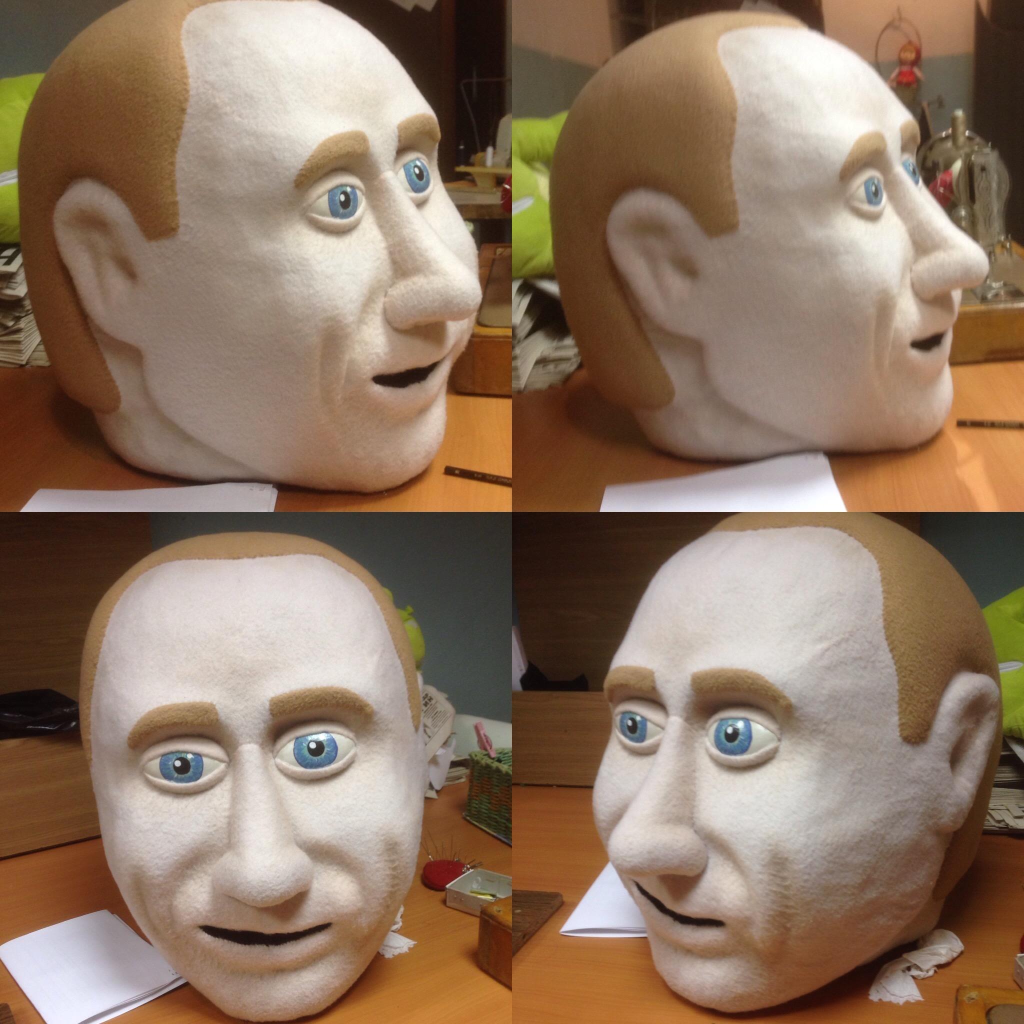 Как сделать из поролона лицо