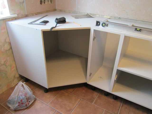 Как сделать угловую кухню из прямой 107