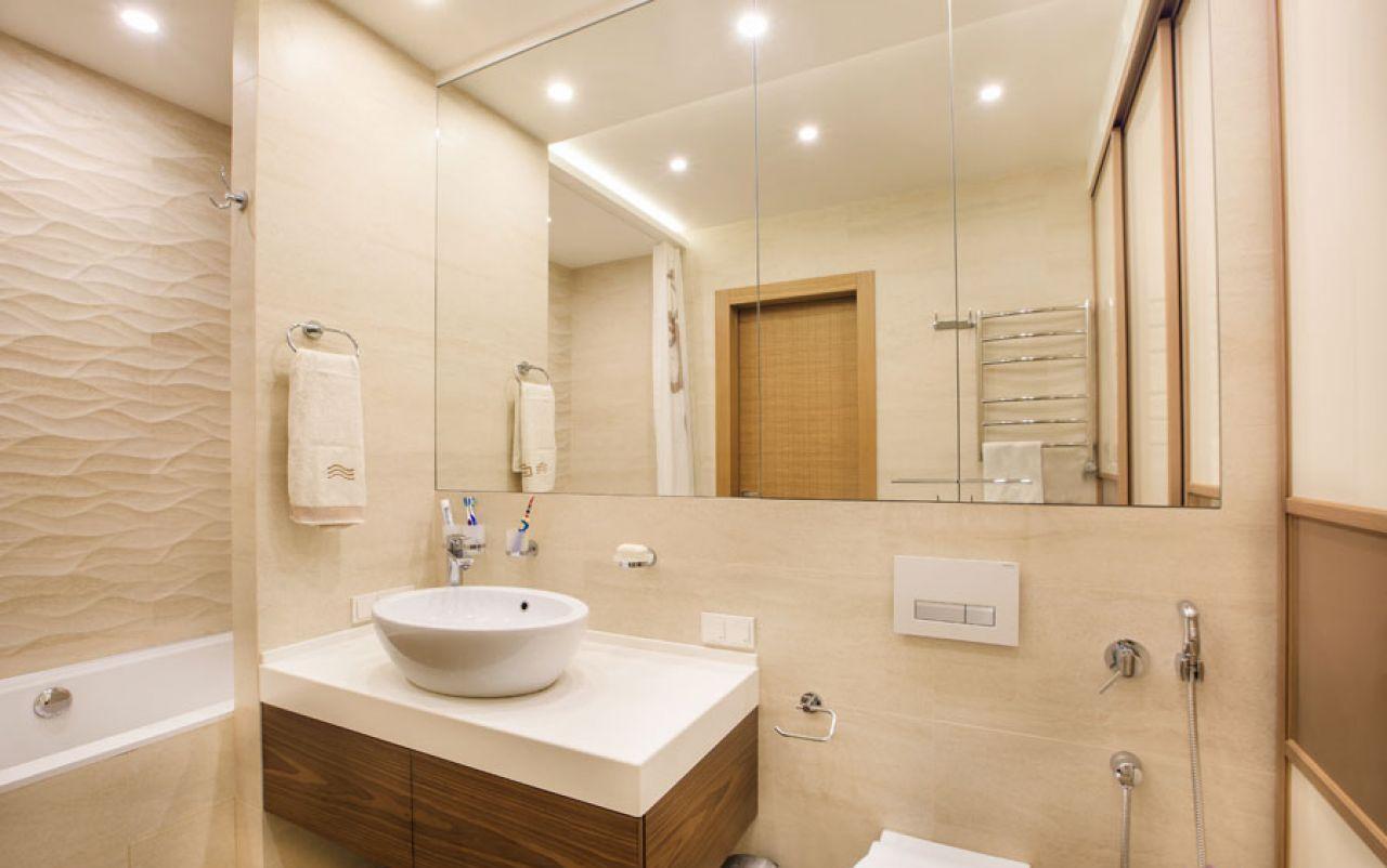 Дизайн средней ванной комнаты