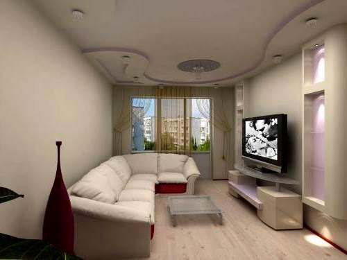 Зал в светлых тонах дизайн интерьера